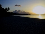Sunset in September at Grand Anse Beach